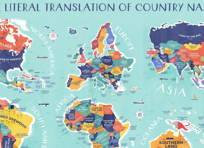 literal world map