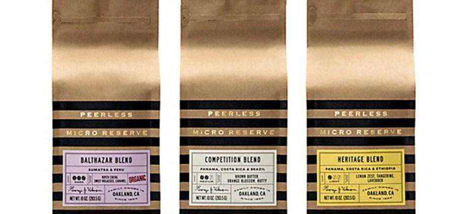 Peerless Coffee & Tea packaging