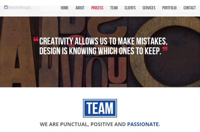 beyondesign graphic design website
