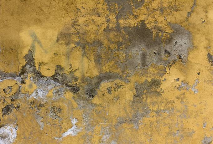 Old Yellow Painted Wall