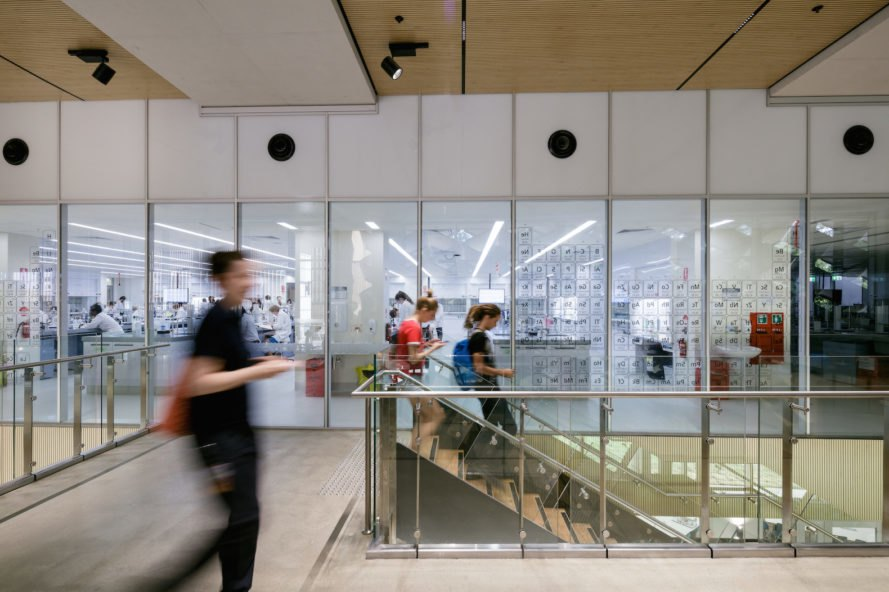 Central stair James Cook University The Science Place by HASSELL