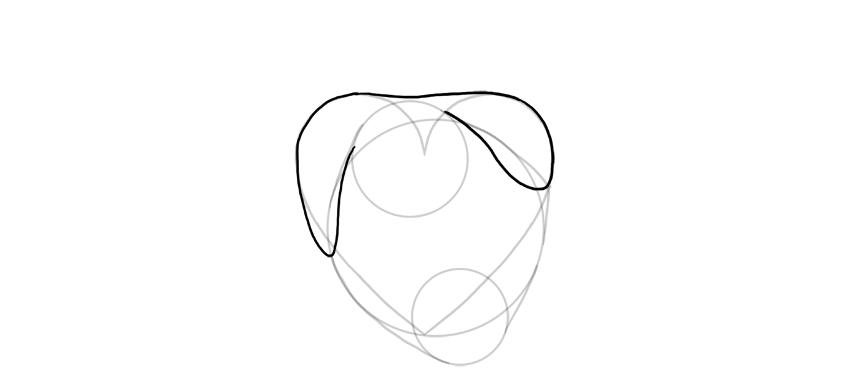 draw upper part of heart