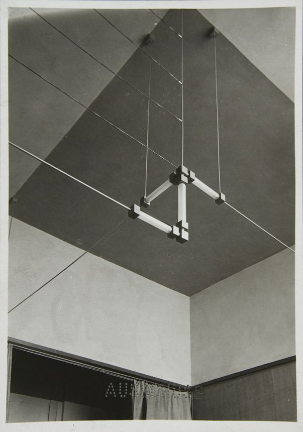 Walter Gropius, Lighting fixture in the Director's office, 1923/24. Bauhaus Weimar. Via harvardartmuseum