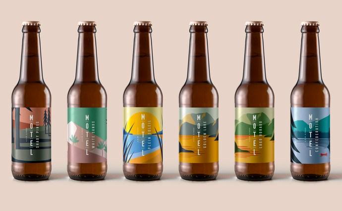 Motel Beer branding and packaging