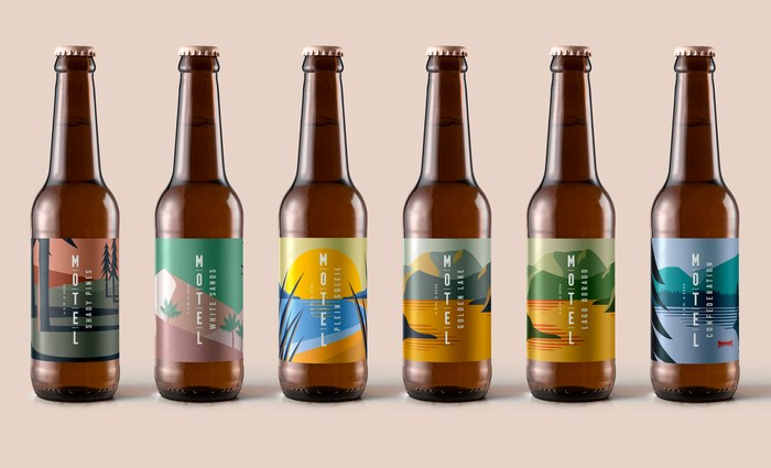 Motel Beer branding and packaging