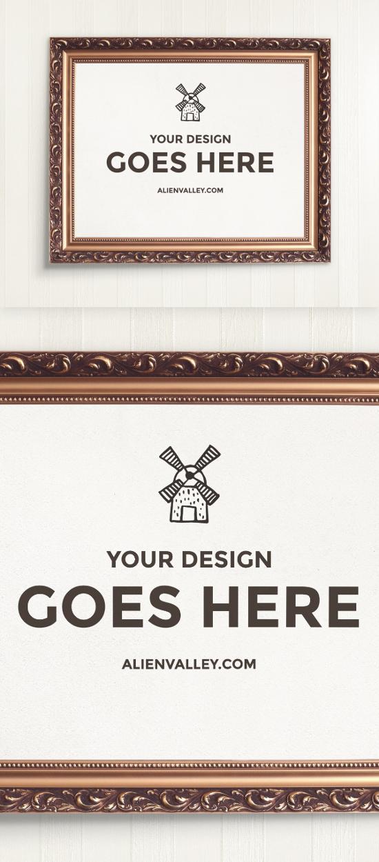 Handpicked poster mockup