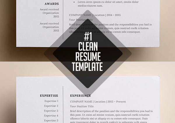Simple and clean resume template