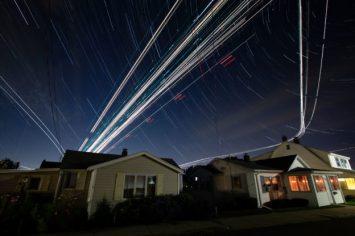 Time Lapse Photographs - Peter Mauney photographs capture light streaks