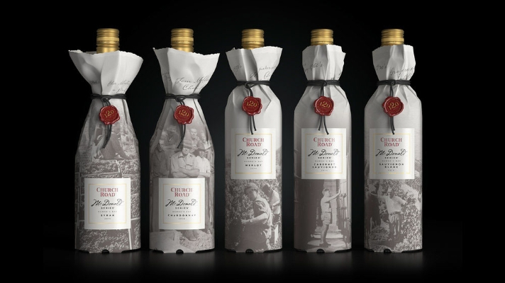 Packaging to Celebrate 120 Years of Church Road Winery in New Zealand