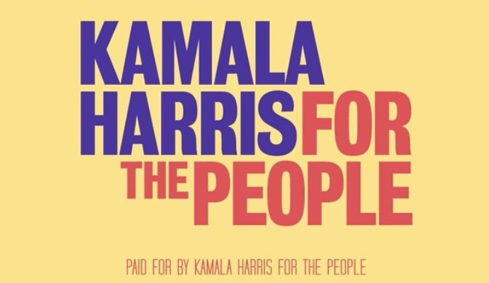 Kamala Harris For The People typography print poster