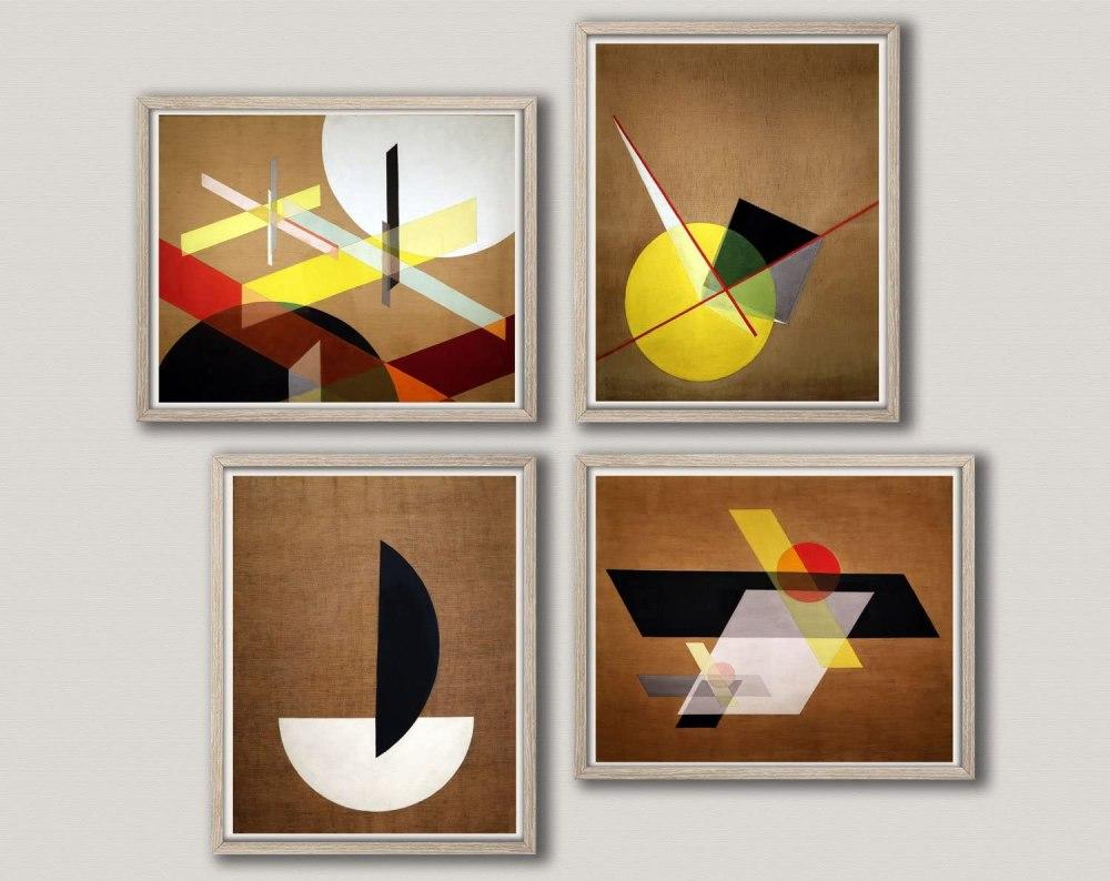 Abstract Geometric Bauhaus Prints and Wall Art