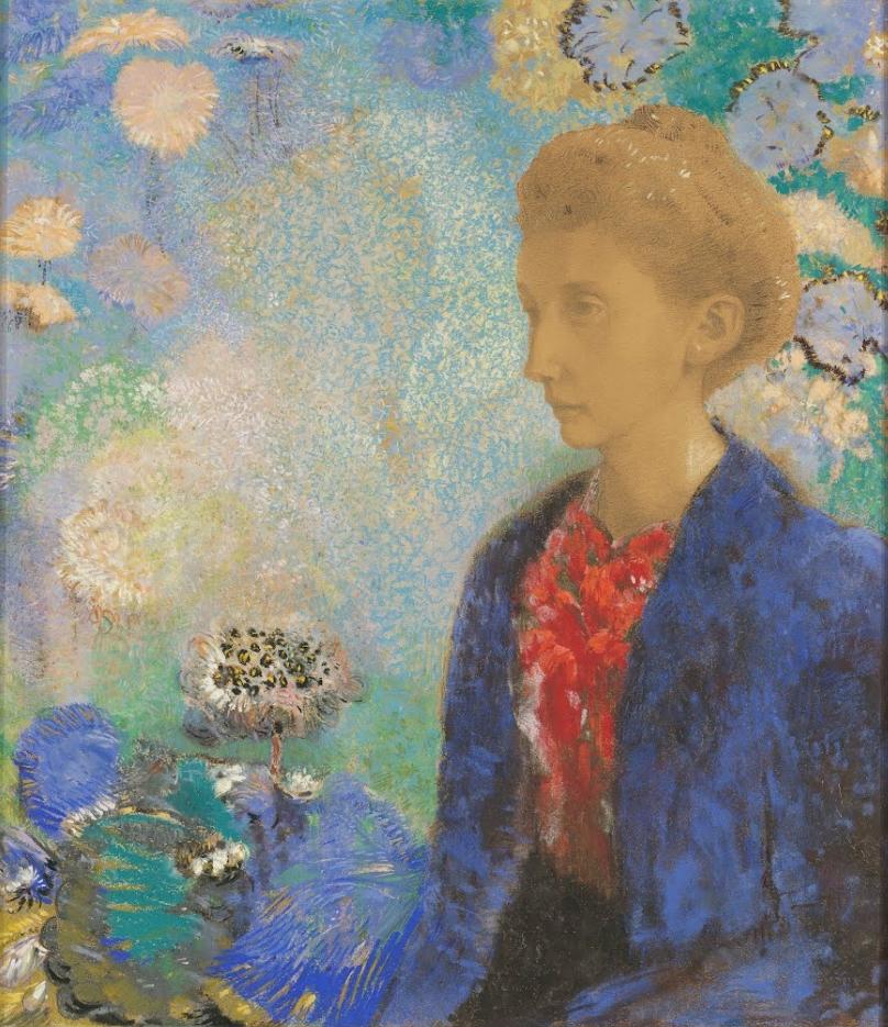 Baronne de Domecy by Odilon Redon about 1900