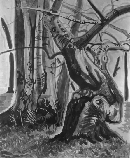 Beech Trees (1917) by Charles Burchfield