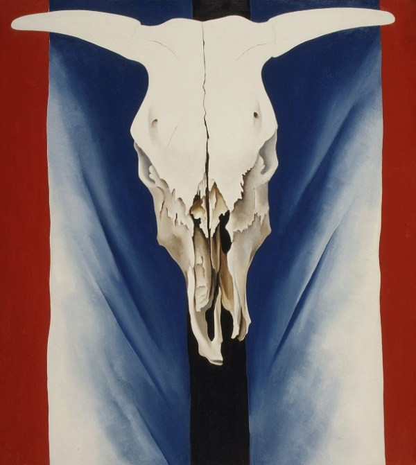 Cow's Skull: Red, White, and Blue - Georgia O'Keeffe