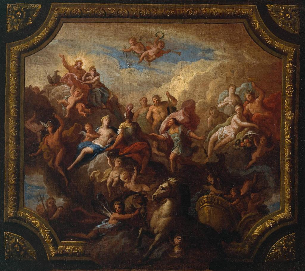 he Apotheosis of Romulus: Sketch for a Ceiling Decoration, Possibly for Hewell Grange, Worcestershire c.1710 by Sir James Thornhill 1675 or 76-1734