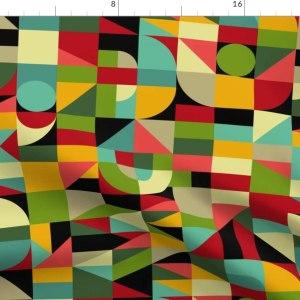 Spoonflower Fabric - Bauhaus Style Inspired Mosaic
