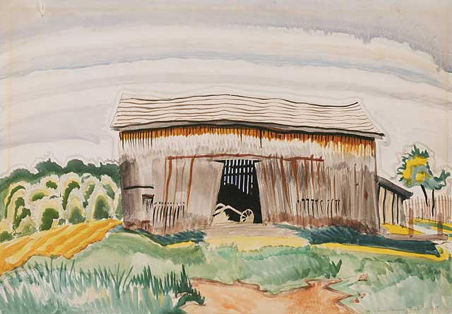 The Barn (1917) by Charles Burchfield
