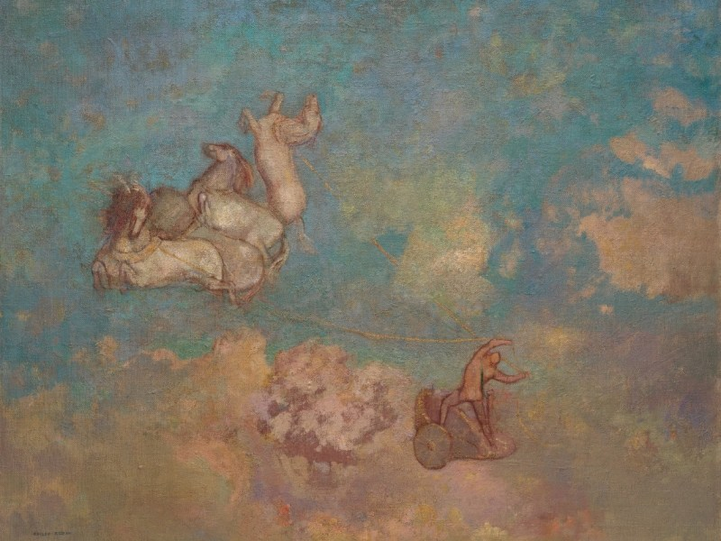 The Chariot of Apollo by Odilon Redon 1905-16