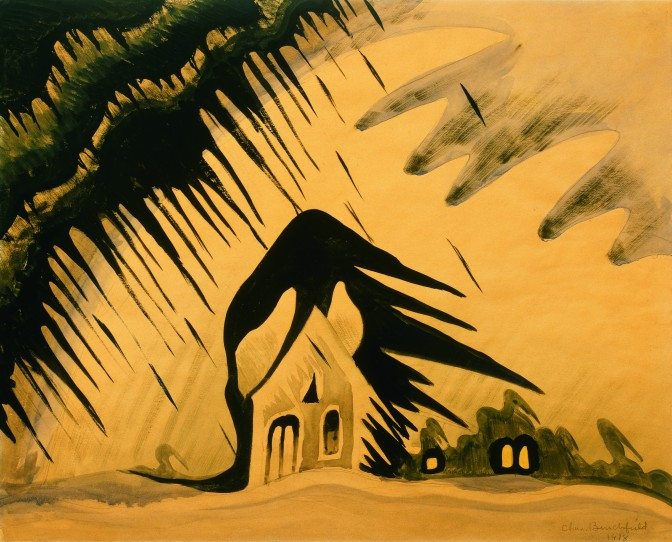 The East Wind (1918) by Charles Burchfield