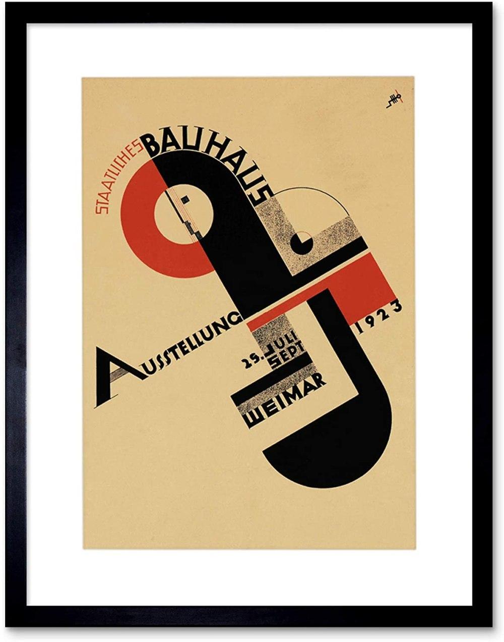 Bauhaus Weimar ICON Vintage AD Frame Art Print Picture