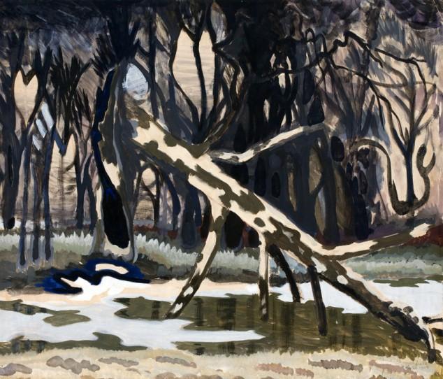 A Fallen Tree (1917) by Charles Burchfield
