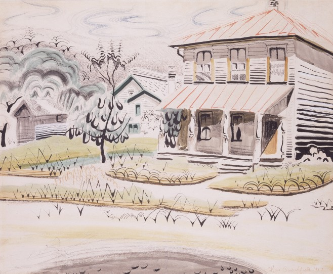 The song of the Katydids on an August Morning (1917) by Charles Burchfield