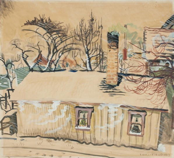 The Southeast Snowstorm (1917) by Charles Burchfield