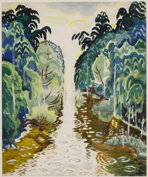 Summer Rain by Charles Burchfield (1917)
