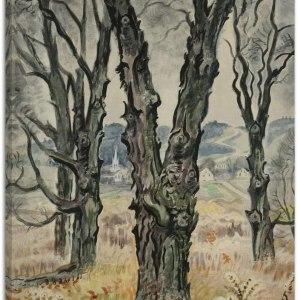 View Through Trees by Charles Burchfield Art Print