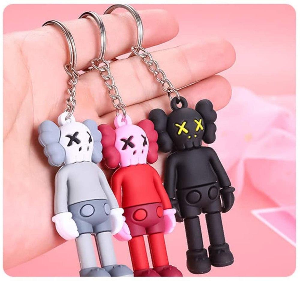 4 Pack Cute KAWS Keychain Miniatures