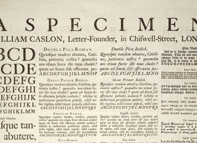 William Caslon Example of Greeking