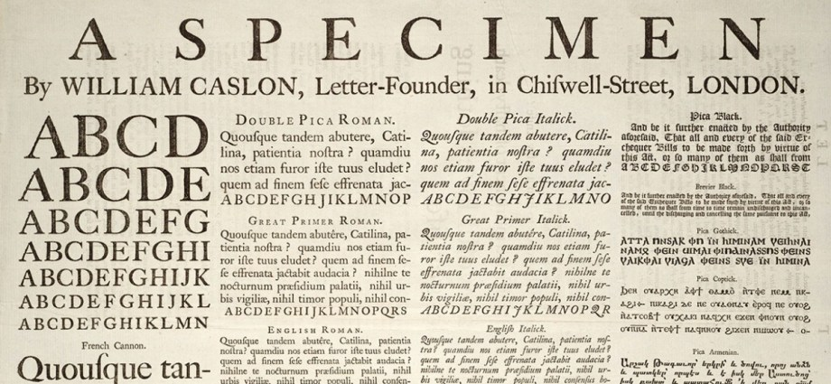 William Caslon Example of Greeking