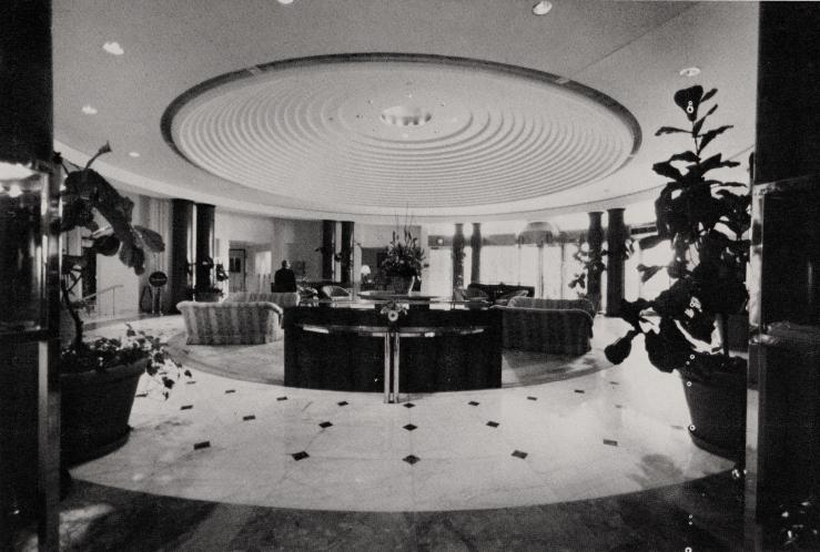 Lobby, Grand Hotel, Washington DC 1987 by Charles Pfister
