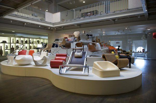 The Musée des Arts Décoratifs furniture collection display