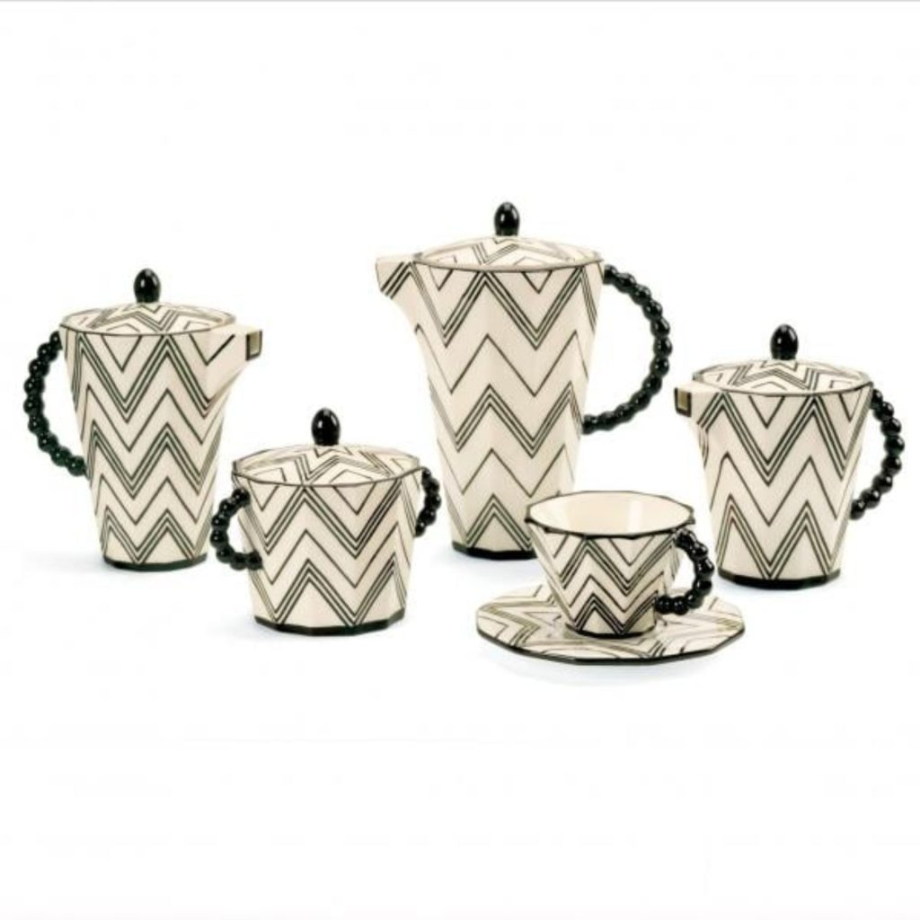 Tea and coffee set - Czech cubist style