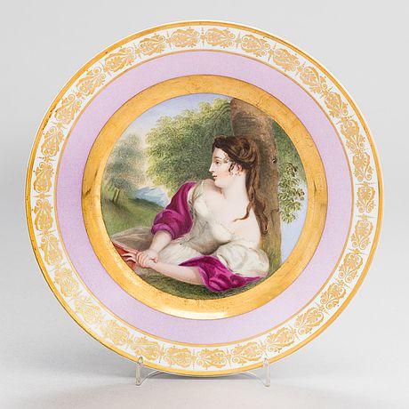 A porcelain plate, Imperial Porcelain Factory, Saint Petersburg, period Nicholas I (1825-55)