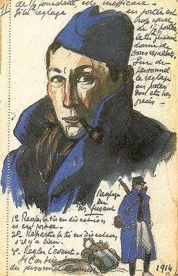 André Mare self portrait during WW2