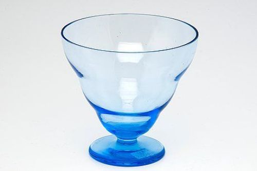 A blue bowl designed by Gunilla Jung