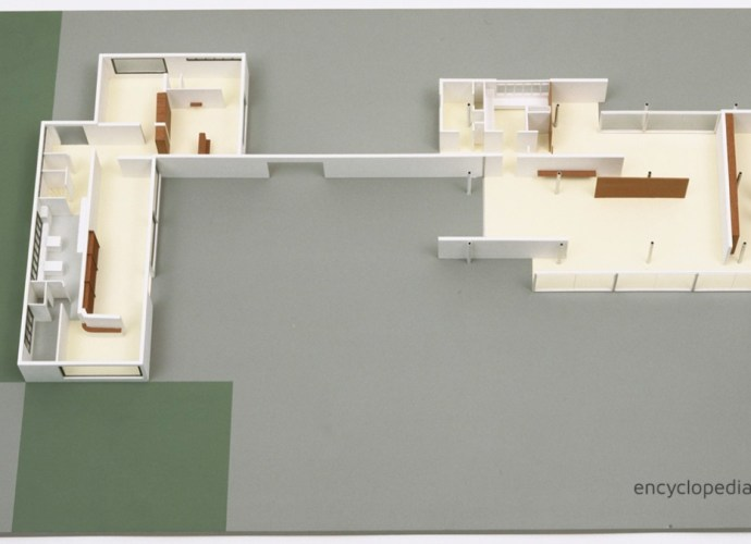 Lily Reich plans for Mies house