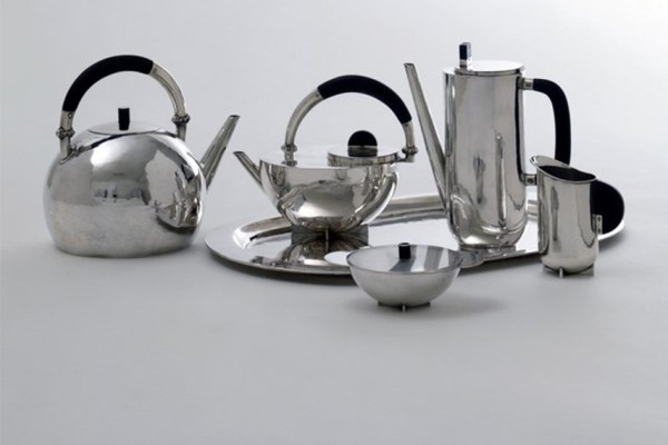 Marianne Brandt - Coffee and tea set, 1924. Photos via dieselpunks.org.