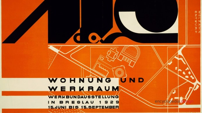 Poster for Deutsche Werkbund Exhibition in Breslau