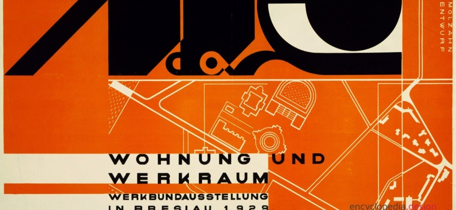 Poster for Deutsche Werkbund Exhibition in Breslau