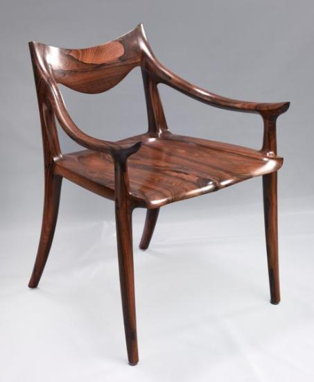 Low-back Side Chair 1995 by Sam Maloof