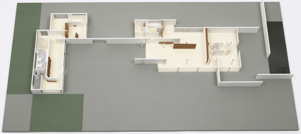 Ground-Floor House in The Dwelling in our Time, German Building Exposition, Berlin, Germany 1931 By Lilly Reich and Ludwig Mies van der Rohe