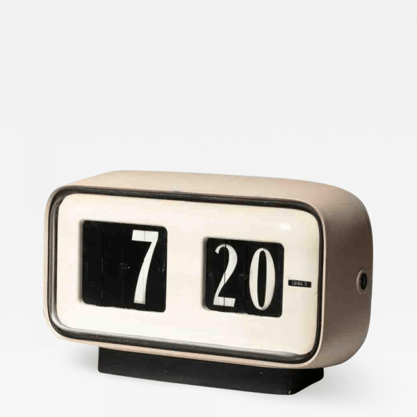 Solari Udine - Cifra 5 Desk clock by Gino Valle for Solari