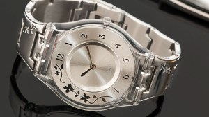 Swiss Design silver coloured watch