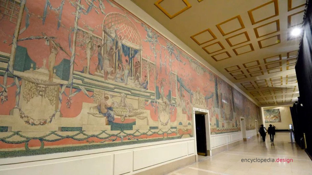 The ancient theatre fresco by Gustave Louis Jaulmes