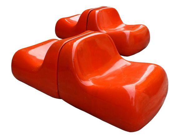 Vintage armchair Jumbo fibreglass designed by Alberto Rosselli