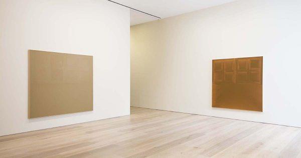 View of James Bishop's 2014 exhibition at David Zwirner, New York.