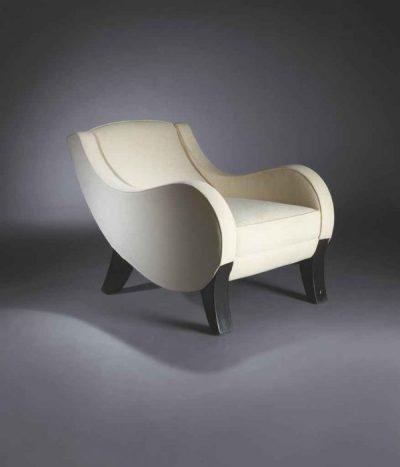 'Virgule' armchair, circa 1922 by Francis Jourdain (Christie's)